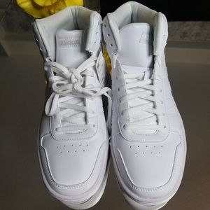 Adidas High Top White Sneakers